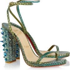 Sandały ze skóry węża Christian Louboutin Palace ze 120 kryształkami Swarovsk'iego