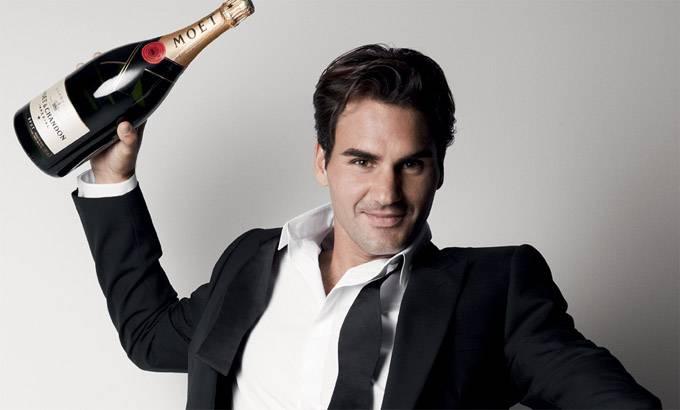 Roger Federer twarzą Moet  & Chandon
