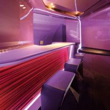 Nowy wystrój baru w liniach Virgin Atlantic