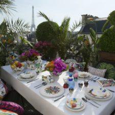 Parada motyli na wiosnę i porcelana Vista Alegre