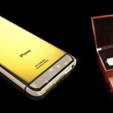 iPhone 6 pokryty złotem i kryształami